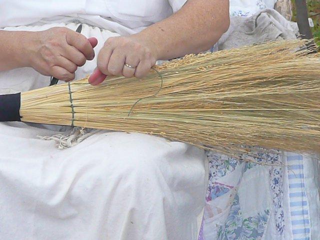 The broom lady