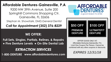 Affordable Dentures in Gainesville FL